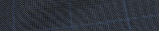 【Hs_ic09】ダークブルーグレーグレンチェック+4×3.7cmブルーオーバープレイド