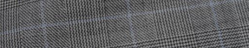 【Hs_ic11】白黒グレンチェック+4×3.7cmライトブルーオーバープレイド