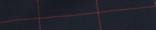 【Hs_ic43】ネイビー+5.5×4cm赤ウィンドウペーン