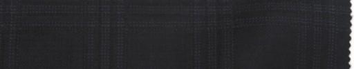 【La_7w09】ダークネイビー+4.5×4cmブルー・黒ファンシーチェック