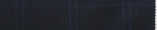 【Sc_7w11】黒×ブルーチェック+5.5×4.5cmブループレイド