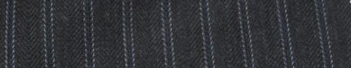 【Cc_7w042】ミディアムグレーヘリンボーン柄+1.1cm巾ライトブルー・織りストライプ