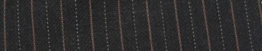 【Cc_7w114】チャコールグレー柄+1cm巾オレンジ・ドット交互ストライプ