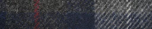【Ht_6w307】グレー・ネイビーチェック+白×赤プレイド