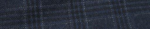 【Mij_7w14】インディゴブルー4.5×3.8cm黒・白ファンシープレイド