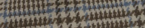【Mij_7w34】ブラウンミックス9×7cmグレンプレイド+水色オーバープレイド