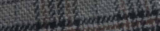 【Mij_7w36】グレー柄+8×7cmネイビー・ブラウンファンシープレイド