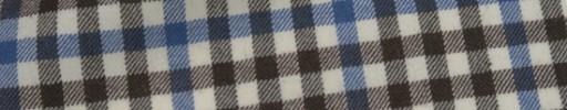 【Mij_7w44】ブラウン・ブルー・ホワイトギンガムチェック