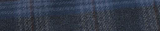 【Mij_7w46】ネイビーミックスファンシープレイド+5×5cmブラウン・ネイビープレイド