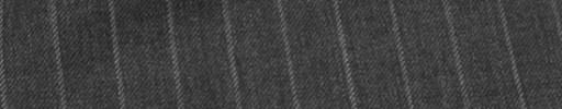 【Sy_7w28】ミディアムグレー+1.1cm巾白ストライプ