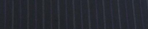 【Cu_7w44】ネイビー柄+1.3cm巾パープル・ドット交互ストライプ