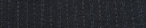 【Cu_7w45】ダークグレー+1.4cm巾ブルー・ドット交互ストライプ