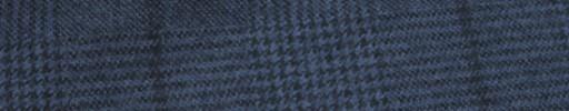 【Ha_FL704】ライトネイビーグレンチェック+7.5×7cm黒ペーン