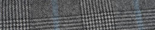 【Ha_FL705】白黒グレンチェック+8×7cm水色ペーン