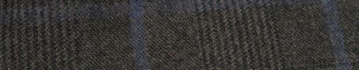 【Ha_FL707】ダークブラウングレンチェック+8×7cmライトブルーペーン