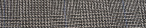 【Ha_FL733】ライトブラウングレンチェック+6.5×5.5cmブルーウィンドウペーン