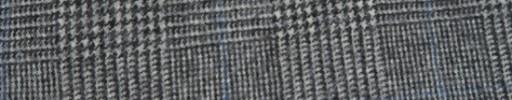 【Ha_FL734】白黒グレンチェック+6.5×5.5cmライトブルーウィンドウペーン