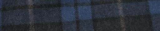 【Ha_FL743】チャコールグレー+8×7cmブルー・黒チェック+ブラウンペイン
