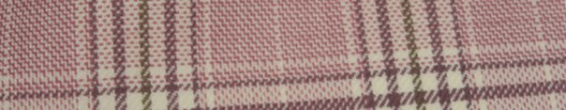 【Hs_ac02】ダスティーピンク・ブラウン・イエロー6×4.5cmファンシープレイド