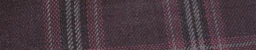 【Hs_ac03】ラセット+6×5cmグレー・レッドファンシープレイド