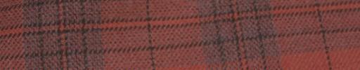 【Hs_ac04】オレンジ+6×5cmライトブルーファンシープレイド+黒オーバープレイド