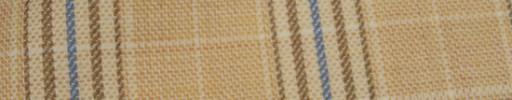 【Hs_ac07】ライトベージュ+6×5cmブラウン・ブループレイド・ファンシーグレンチェック