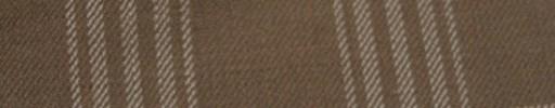【Hs_ac08】ブラウン+6×5cmライトブラウン・オフホワイト・ファンシープレイド