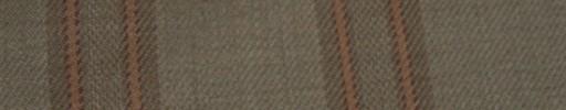 【Hs_ac09】ブラウン+6×5cmオレンジ・ダークブラウンプレイド