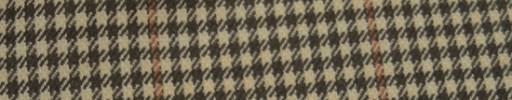 【Hs_ac10】ダークグリーン・オフホワイトシェファード+5.5×4.5cmブラウンチェック
