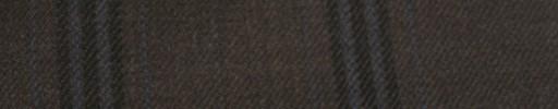 【Hs_ac12】ダークブラウン+6.5×5cm黒・ブルーファンシープレイド