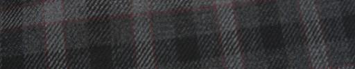 【Hs_ac15】チャコールグレー+3×2.5cm黒・グレー×エンジエッジオーバープレイド