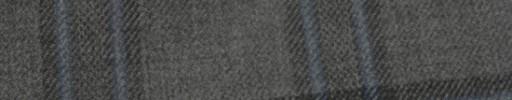 【Hs_ac16】ミディアムグレー+6×5cmブルー・ダークグレーファンシープレイド