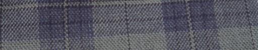 【Hs_ac17】ライトグレー+6×5cmパープルファンシープレイド+オーバープレイド