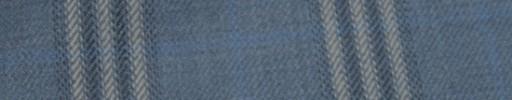 【Hs_ac21】ライトブルー+6.5×5cmネイビー・白プレイド+水色オーバープレイド