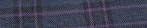 【Hs_ac22】ブルーグレー+6×5cm黒・パープルプレイド