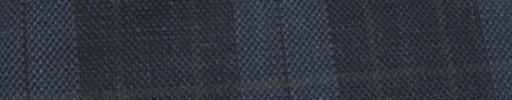 【Hs_ac24】ダークブルー・ダークグレータータン+6.5×5cmグリーンWプレイド