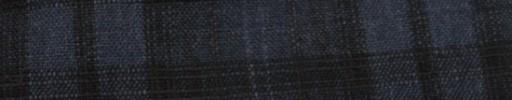 【Hs_ac30】インディゴ+ブラック織りプレイド・9×7cm白Wプレイド