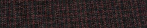 【Hs_ac32】ダークレッド+ブラック織りチェック