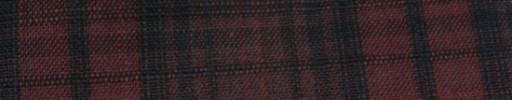 【Hs_ac33】ダークレッド+ブラック織りプレイド・9×7cm赤Wプレイド