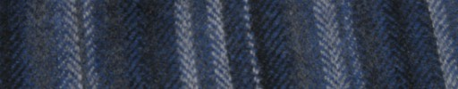 【Hs_ac37】グレー・ネイビー・白ミックスヘリンボーン+6cm巾マルチストライプ