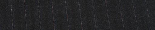 【Ib_g7w032】チャコールグレー柄+8ミリ巾織り・ピンクドット交互ストライプ