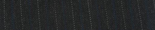 【Ib_g7w095】チャコールグレー+1cm巾ブルー・白交互ストライプ