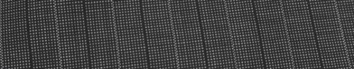 【Ca_82s003】グレー・黒ピンチェック+2cm巾黒・ドット交互ストライプ