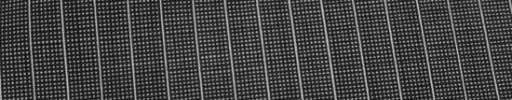 【Ca_82s005】グレー・黒ピンチェック+7ミリ巾白ストライプ
