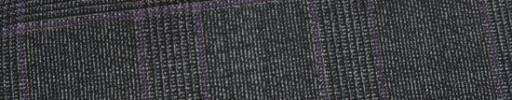 【Ca_81s004】ダークグレーグレンチェック+6×4.5cmパープルプレイド