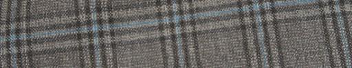【Ca_81s010】ライトブラウン+4.5×3cm水色・ブラウンオルターネートチェック