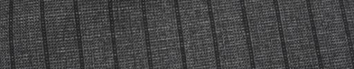 【Ca_81s016】グレーピンチェック+1.1cm巾黒織りストライプ
