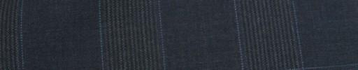 【Ca_81s029】ネイビーグレンチェック+6×5cm白オーバープレイド
