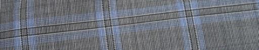 【Ca_81s030】グレー+5.5×4cm水色・黒オルターネートチェック