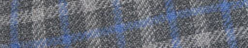 【Ca_81s082】ミディアムグレー+3×2.5cm水色・白オーバーチェック